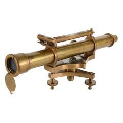 Decorative Telescope with Level, Metal, 20th Century
