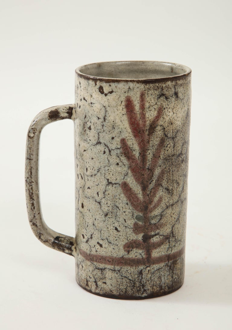 French Decorative Vintage Ceramic Jug by Gustave Raynaud, circa 1960 For Sale