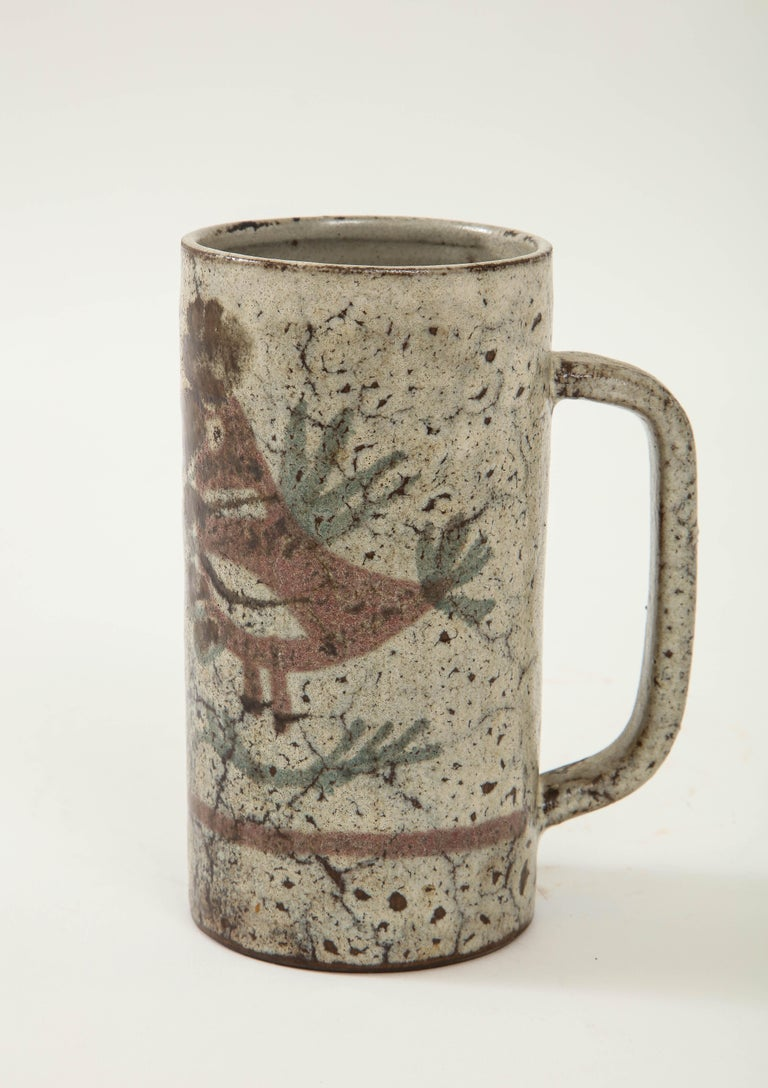 Decorative Vintage Ceramic Jug by Gustave Raynaud, circa 1960 For Sale 1