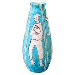 Decorative Vintage Italian Ceramic Vase by C.A.S. Vietri 'circa 1950s'