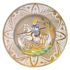 Decorative Vintage Plate, by Molaroni Pesaro, 20th Century