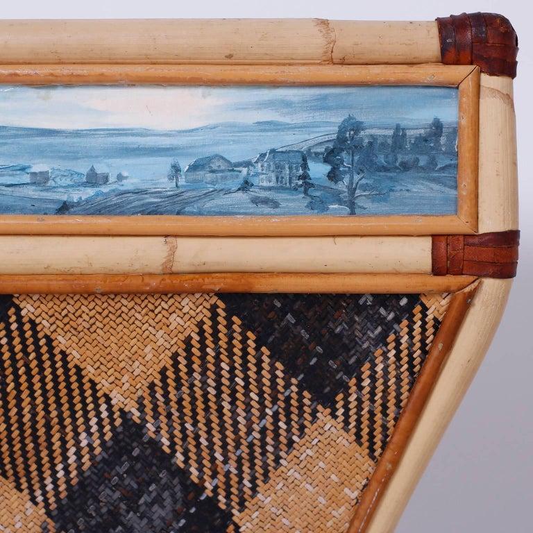 20th Century Decorative Waste Basket For Sale
