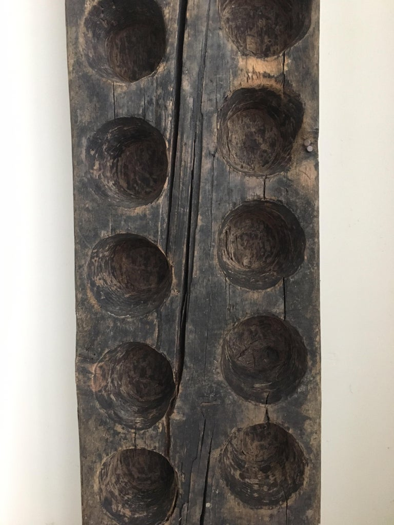 Hand-Carved Decorative Wood Mold from Mexico, 1970s For Sale