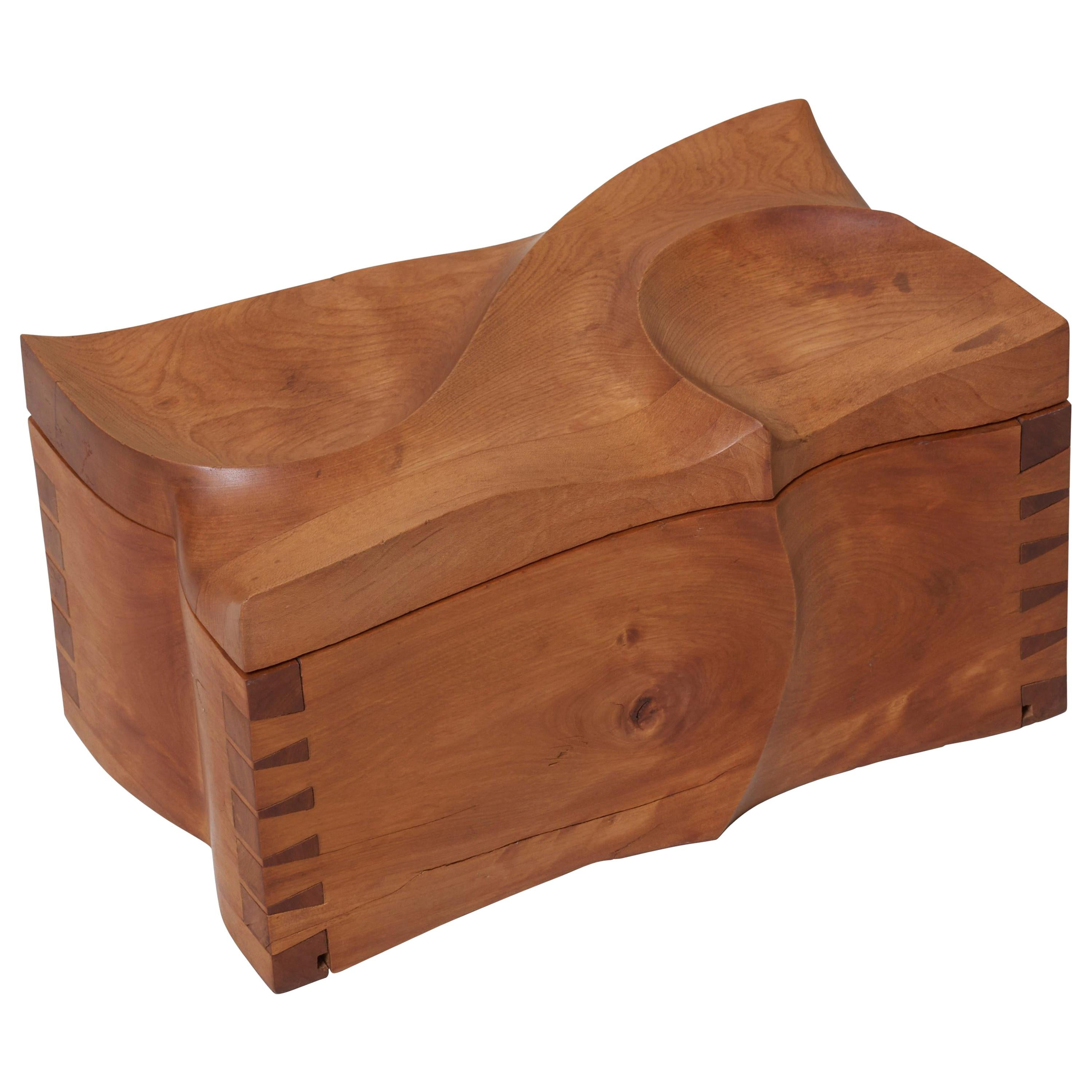 Decorative Wooden Box in the Manner of Michael Coffey, US, 1970s