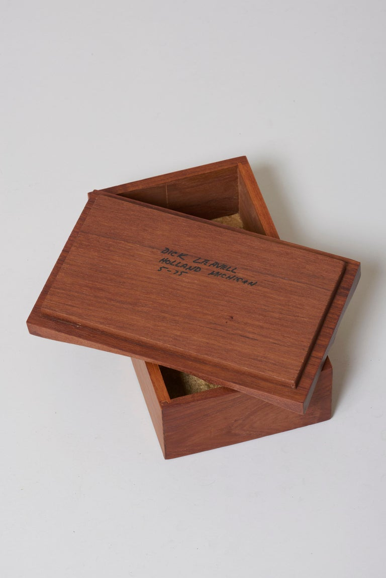 Mid-Century Modern Decorative Wooden Jewelry Box, USA, 1970s For Sale