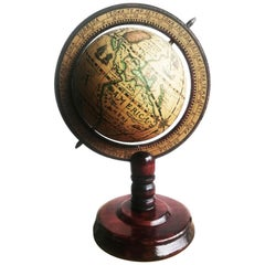 Decorative World Ball with Wooden Foot, 20th Century