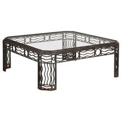 Decorative Wrought Iron Coffee Table 1970s