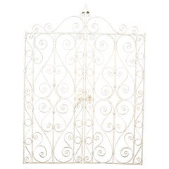 Decorative Wrought Iron French Double Gate with Latch