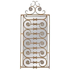 19th Century French Decorative Wrought Iron Mirror