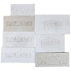 Decoratively Carved Marble and Stone Plaques, 20th Century