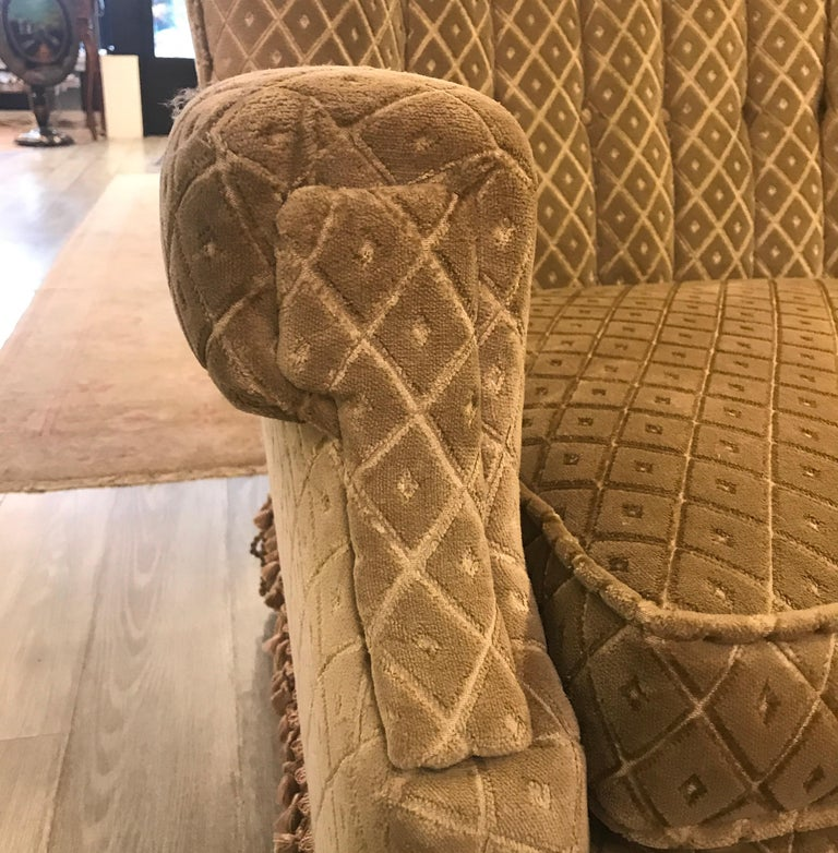 Art Deco Club Chair and Ottoman by Swaim For Sale 7