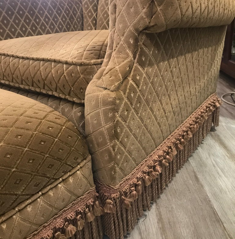 Art Deco Club Chair and Ottoman by Swaim For Sale 2