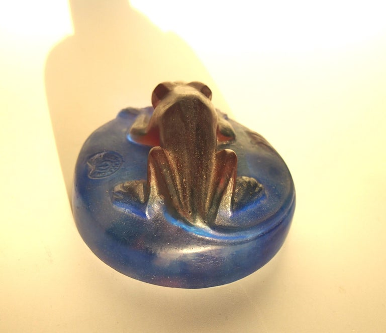 Decorchment Pâtes De Crystal Glass Dormouse Paperweight -French In Good Condition For Sale In London, GB