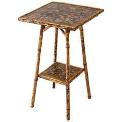 Decoupage Bamboo Table