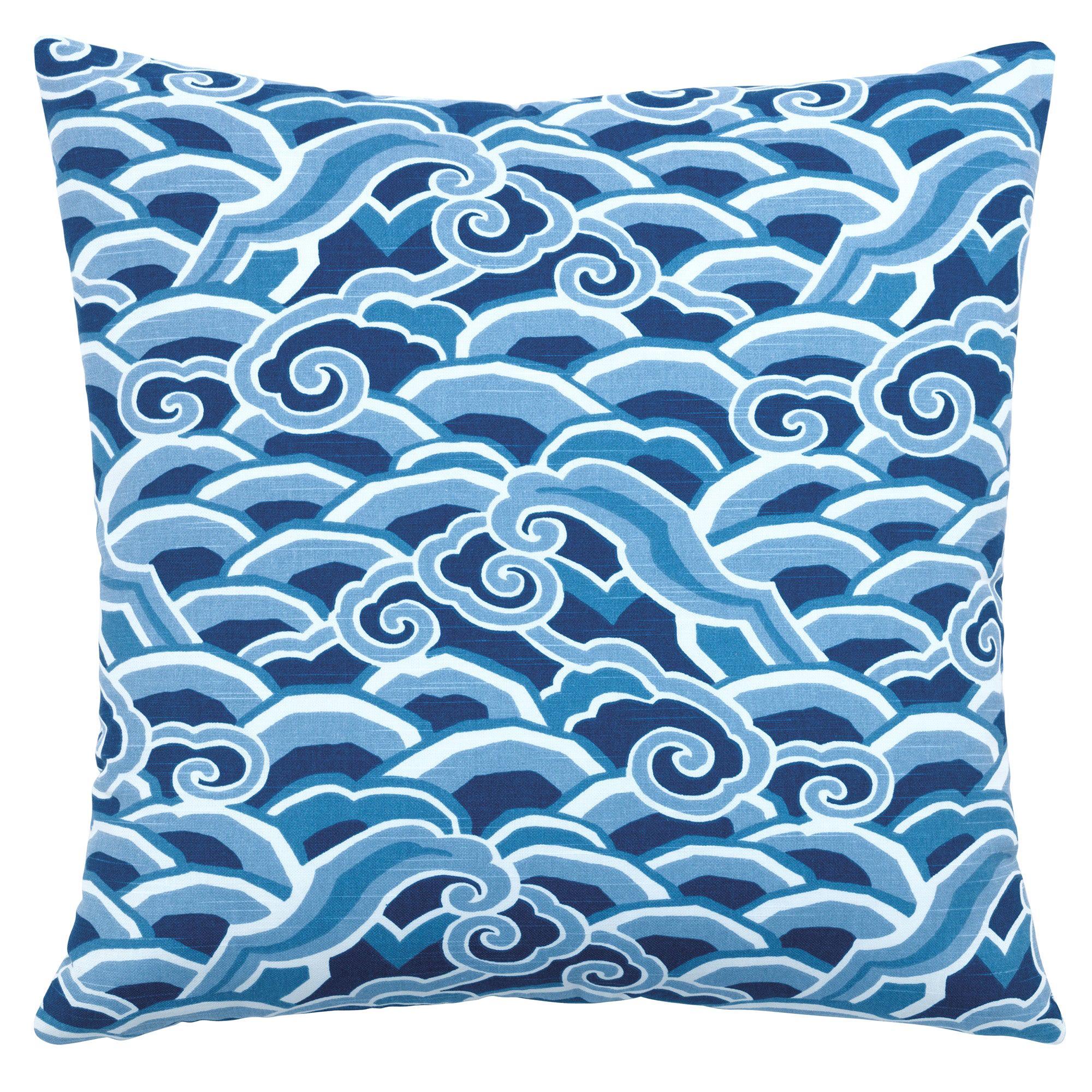 Decowaves Pillow in Ultramarine by CuratedKravet