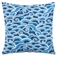 Decowaves Pillow in Ultramarine by CuratedKravet