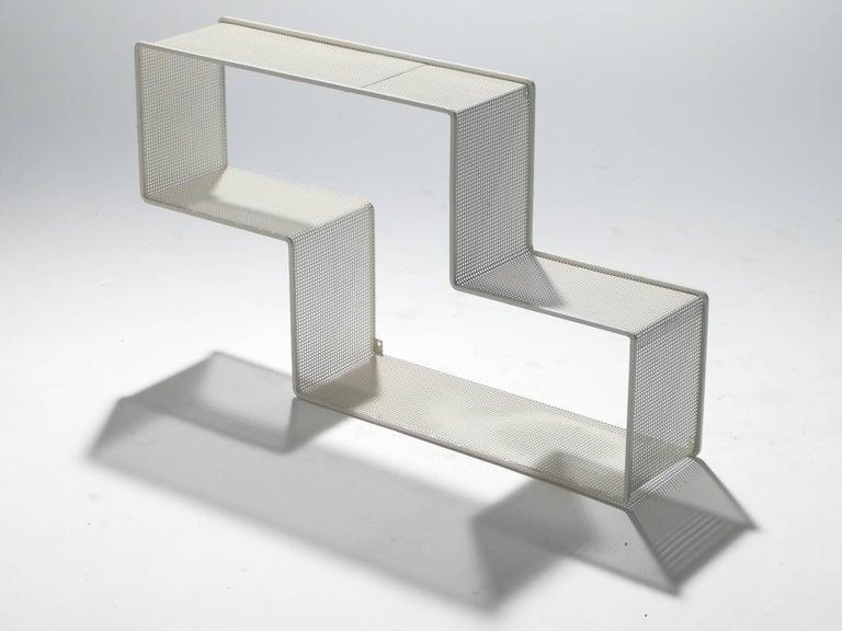 Mid-Century Modern Dedal Wall Shelf by Mathieu Matégot, 1950s For Sale