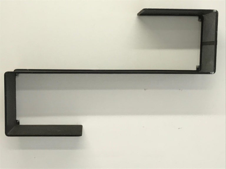 French Dedal Wall Shelf by Mathieu Mategot, Perforated Steel, France, circa 1955 For Sale