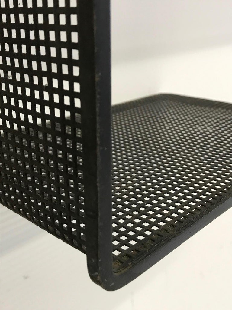 Mid-20th Century Dedal Wall Shelf by Mathieu Mategot, Perforated Steel, France, circa 1955 For Sale