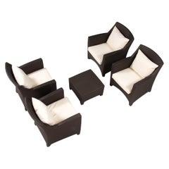 Dedon Barcelona Garden/Outdoor Table & Chairs Lounge