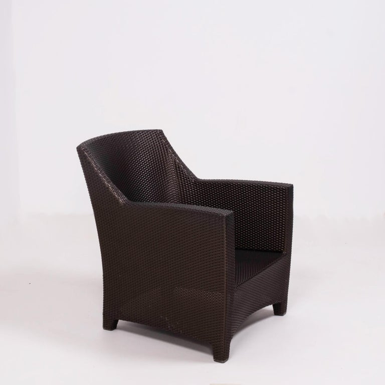 Caning Dedon's Barcelona Garden Lounge Set For Sale