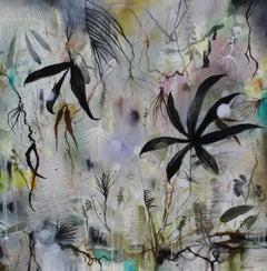 """Field Walk"" original mixed media on panel, flora, by Deedra Ludwig"