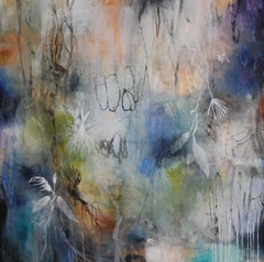 """Reflection"" original mixed media on canvas, flora, by Deedra Ludwig"