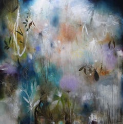 """Tensaw Delta"" original mixed media on canvas, flora, by Deedra Ludwig"