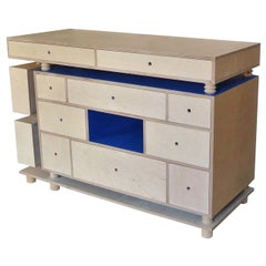 Deep Blue 3-Piece Drawer Unit