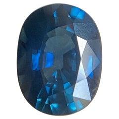 Deep Blue Sapphire 1.96 Carat Oval Cut Loose Gemstone Top Grade Gem
