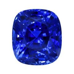 Deep Blue Sapphire Ring Gem 5.30 Carats Ceylon Loose Gemstone GIA Certified