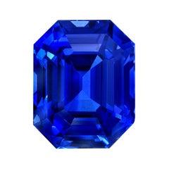 Deep Blue Sapphire Ring Gem 6.04 Carats Ceylon Loose Gemstone GIA Certified