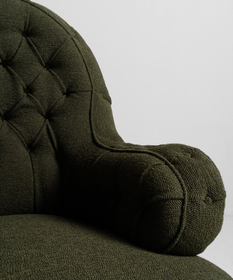 Victorian Deep Buttoned Armchairs, England, circa 1860 For Sale