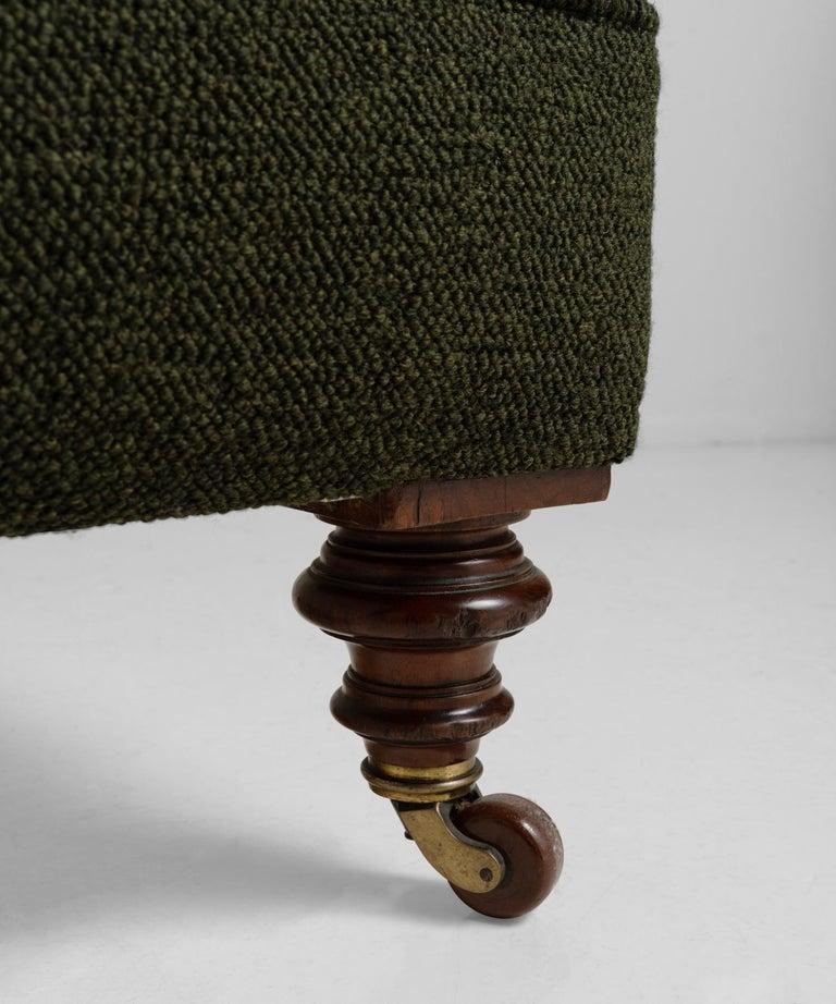 English Deep Buttoned Armchairs, England, circa 1860 For Sale