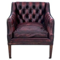 Deep Buttoned Chesterfield Leather Armchair