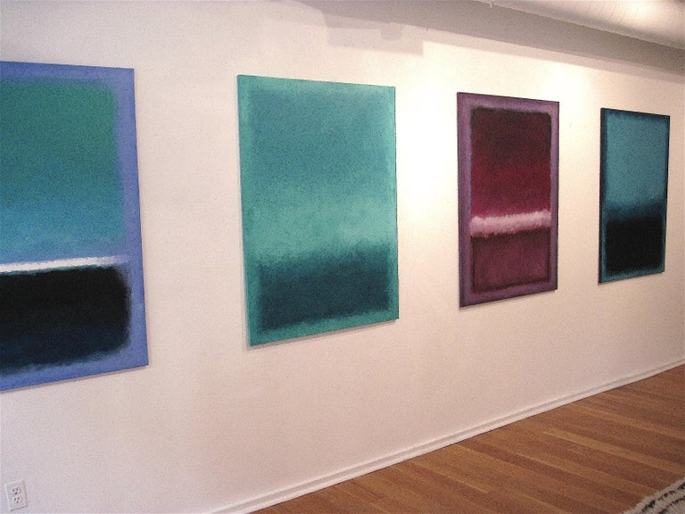 American Deep Ocean, Contemporary Color-Field Abstract by Benjamin Casiano For Sale