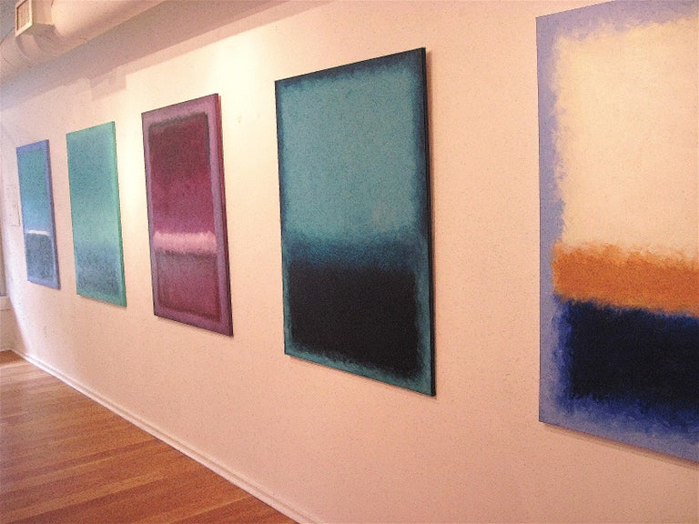 Hand-Painted Deep Ocean, Contemporary Color-Field Abstract by Benjamin Casiano For Sale
