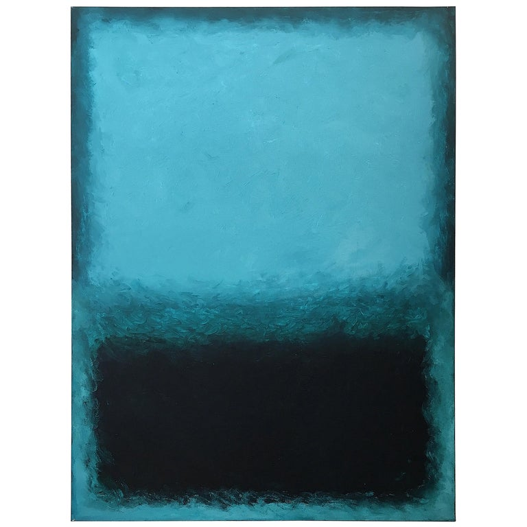 Deep Ocean, Contemporary Color-Field Abstract by Benjamin Casiano For Sale