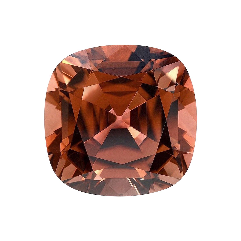 Deep Orange Tourmaline Ring Gem 12.60 Carat Cushion Loose Gemstone