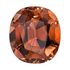 Deep Orange Tourmaline Ring Gem 5.23 Carat Cushion Loose Gemstone