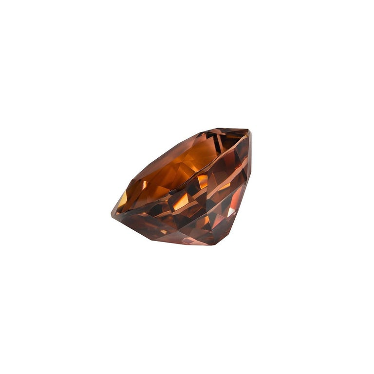5.23 carat deep orange Tourmaline cushion gem, offered loose to a gemstone lover. Returns are accepted and paid by us within 7 days of delivery. We offer supreme custom jewelry work upon request. Please contact us for more details. For your