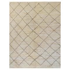 Deep Pile Wool Moroccan Inspired Handwoven Rug
