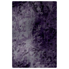 Deep Purple Rug in Silk from Fortuny Collection by Cristina Jorge de Carvalho