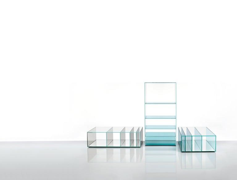 Deep Sea Bookcase in Light Blue Transparent Glass, by Nendo from Glas Italia In New Condition For Sale In Macherio, IT