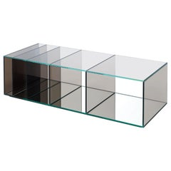 Deep Sea Large Low Table in Grey Transparent Glass, by Nendo from Glas Italia