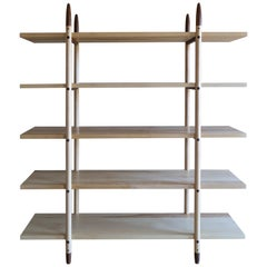 Deepstep Shelving, Ash, Walnut and Ebony Bookshelf with Fine Wood Detailing