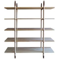 Deepstep Shelving, Ash, Walnut and Ebony Bookshelf with Fine Wood Detailing