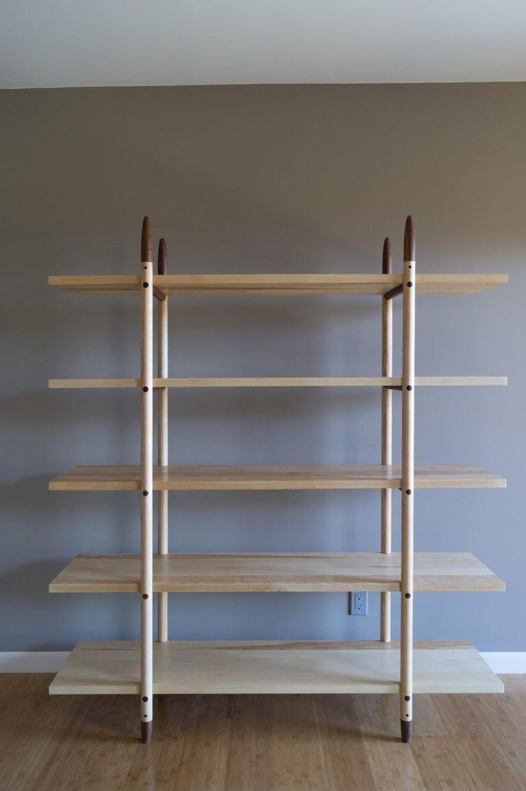 Deepstep Shelving, Bookshelf with Fine Wood Detailing by Birnam Wood Studio For Sale 4