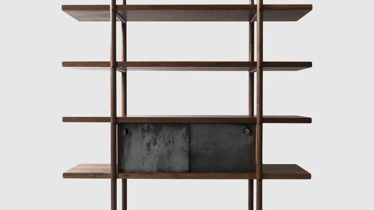 Deepstep Shelving, Bookshelf with Fine Wood Detailing by Birnam Wood Studio For Sale 5