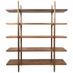 Deepstep Shelving, Bookshelf with Fine Wood Detailing by Birnam Wood Studio